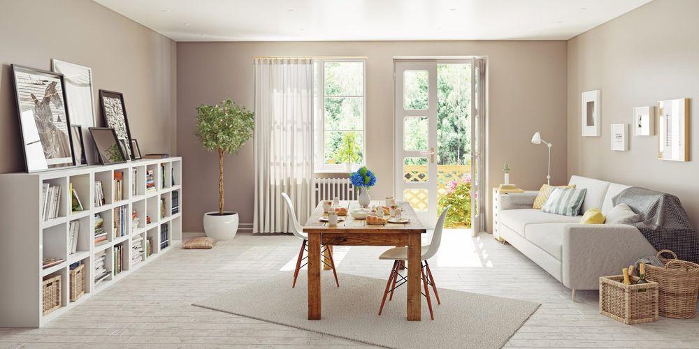 En ren og ryddig stue