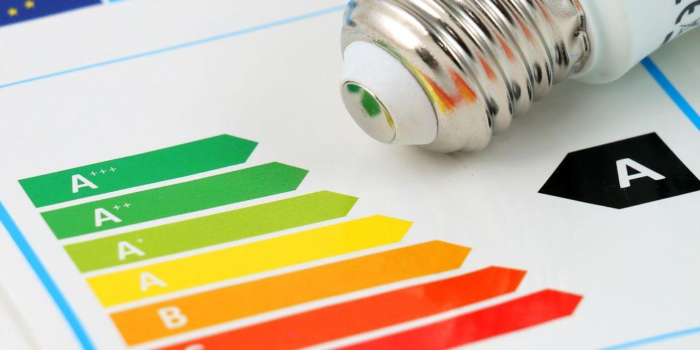 Illustrasjon av energimerkene – bokstavene og fargene