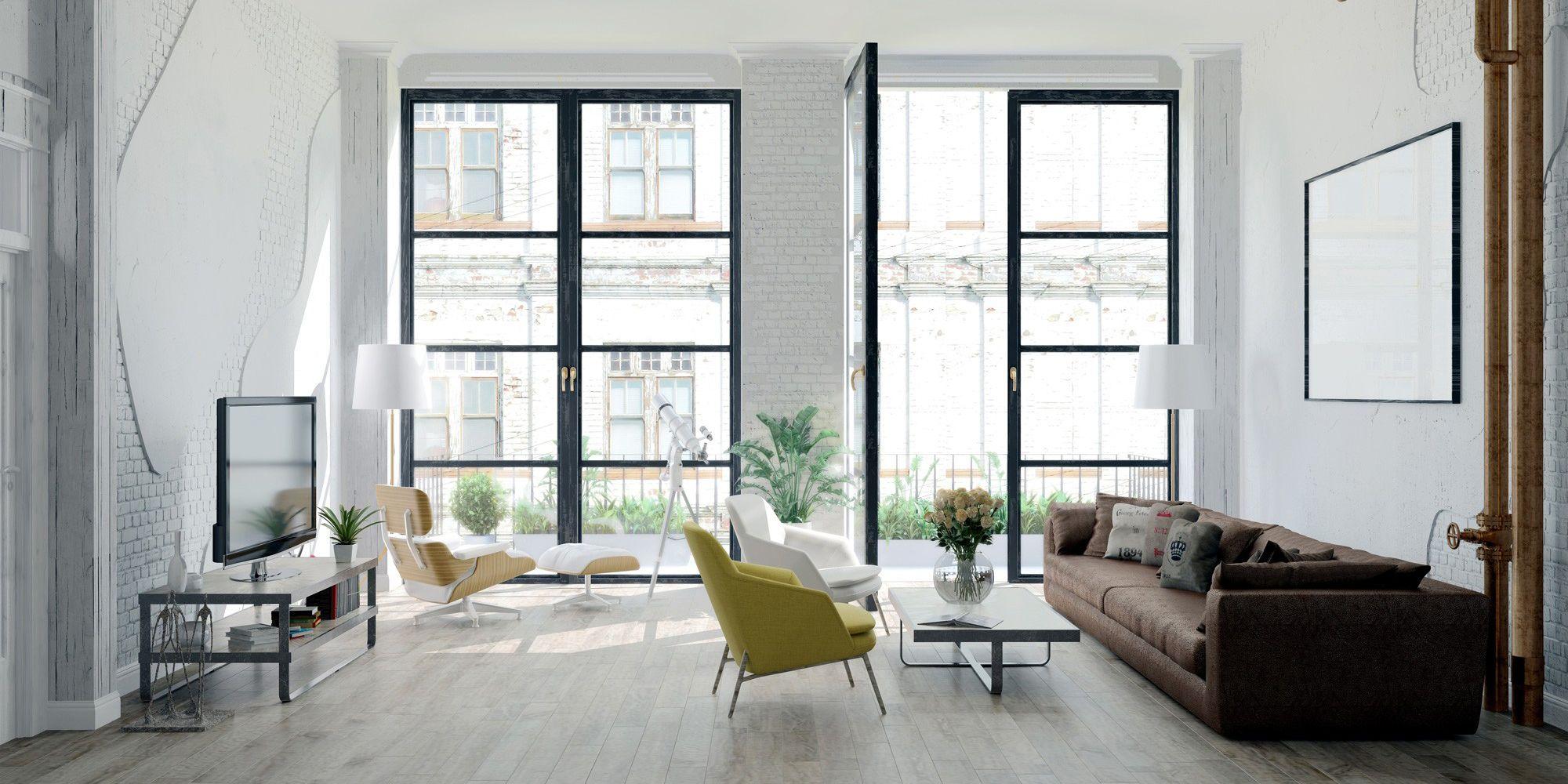 Stue i en moderne leilighet.