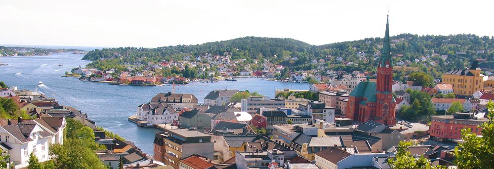 Arendal er en populær sommerby med kystlinje, vakker natur og arkitektur