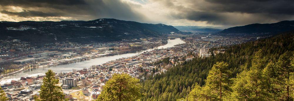 Utsikt over Drammen