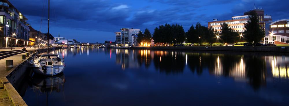 Fredrikstads bryggepromenade har noen av de dyrere eiendommene i byen.