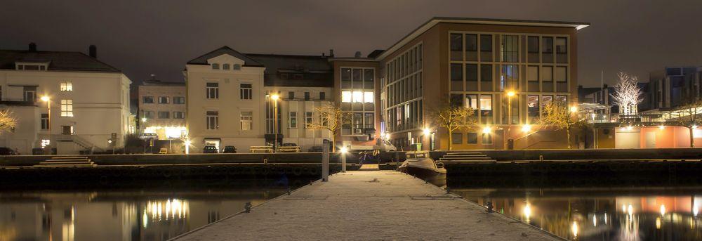 Østsiden av elven i Porsgrunn. Foto av Mahlum.