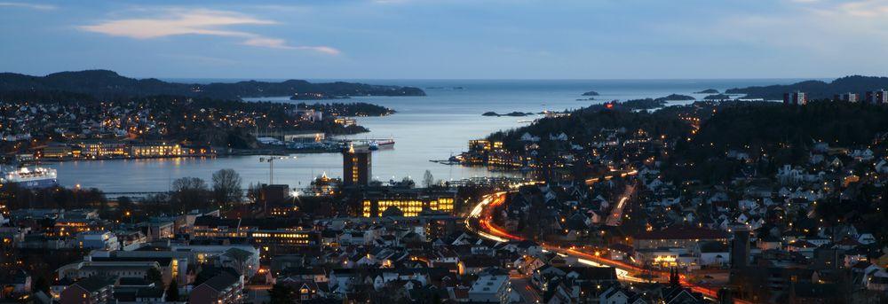 Kveldstid i Sandefjord