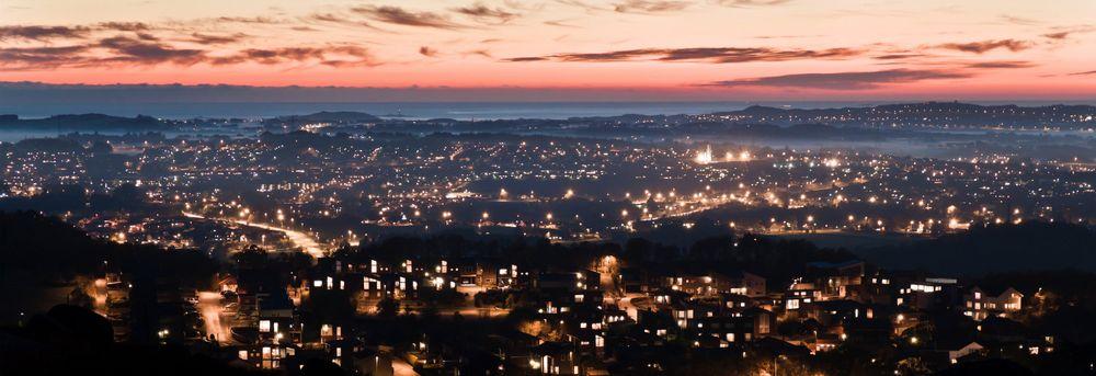 Kveld i Sandnes by