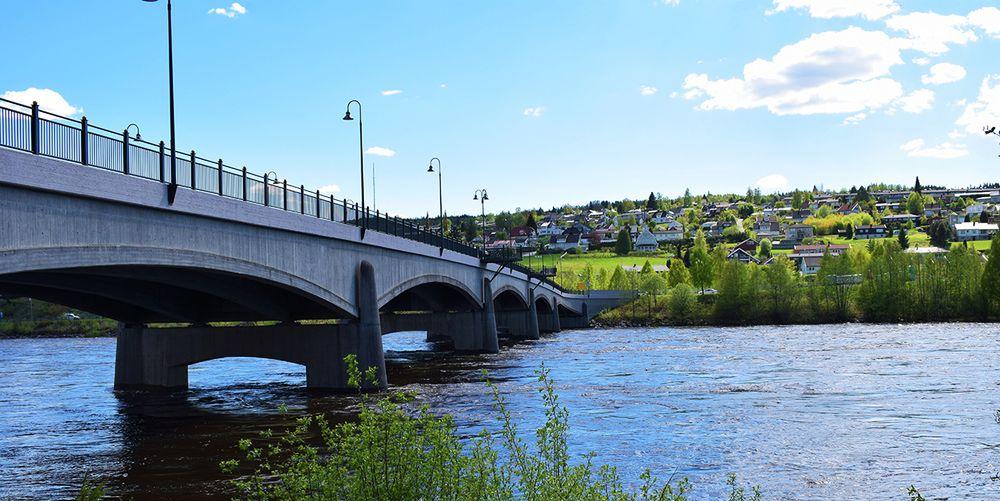Broen over til Kongsvinger sentrum