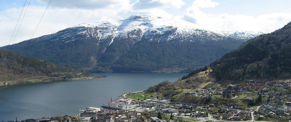 Oversiktsbilde av Sogndal