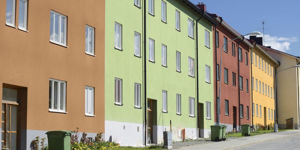 Exteriör på svenska bostadsrätter och flerbostadshus