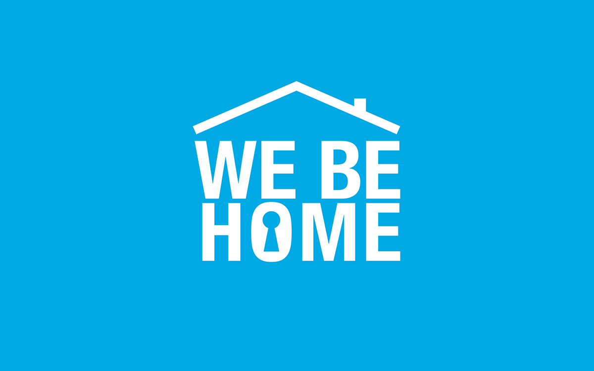 Larmbolaget WeBeHomes logotyp