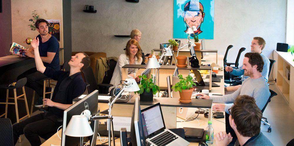 Nuestros empleados trabajando en la oficina de Oslo