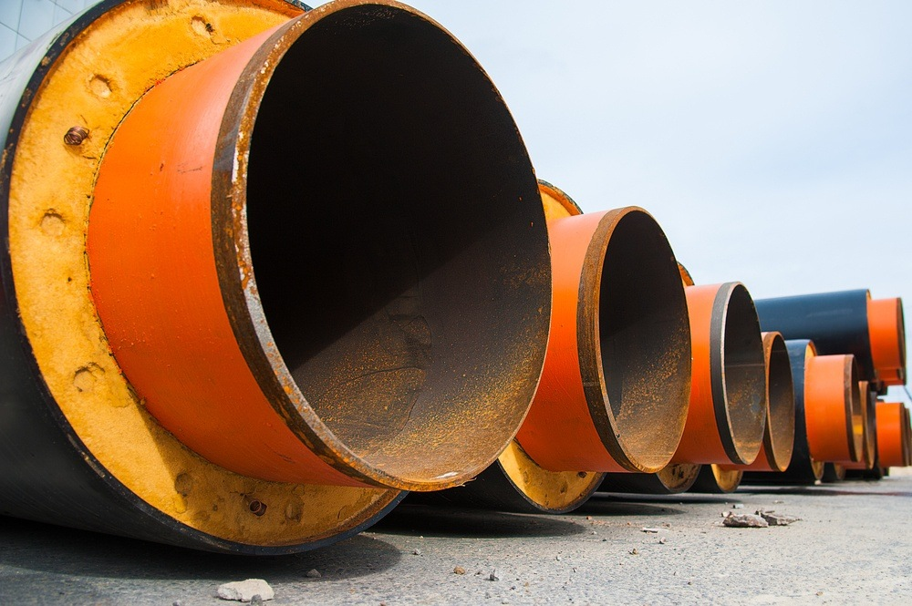 Bilde av isolerte stålrør