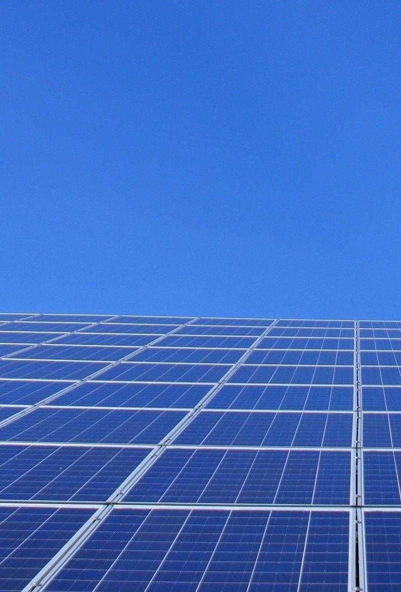 Bilde av solcellepanel