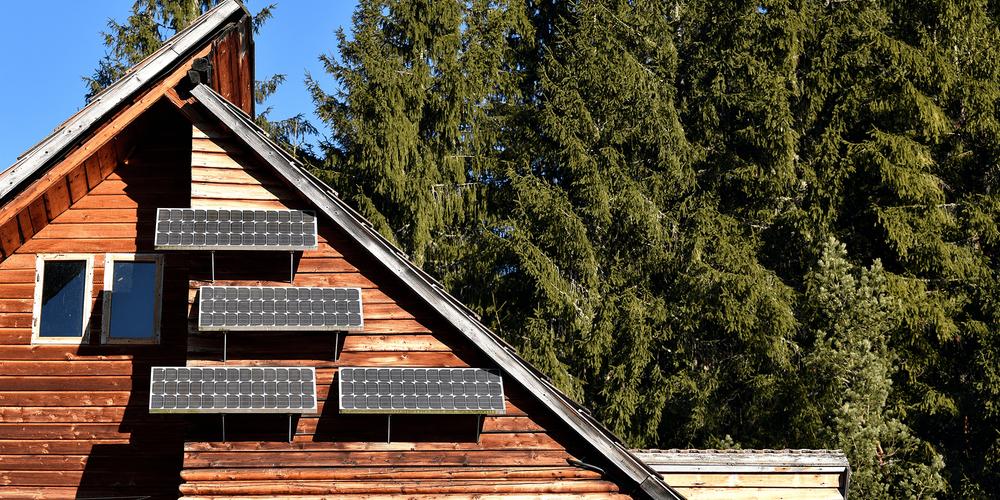 Solcellepanel til hytte