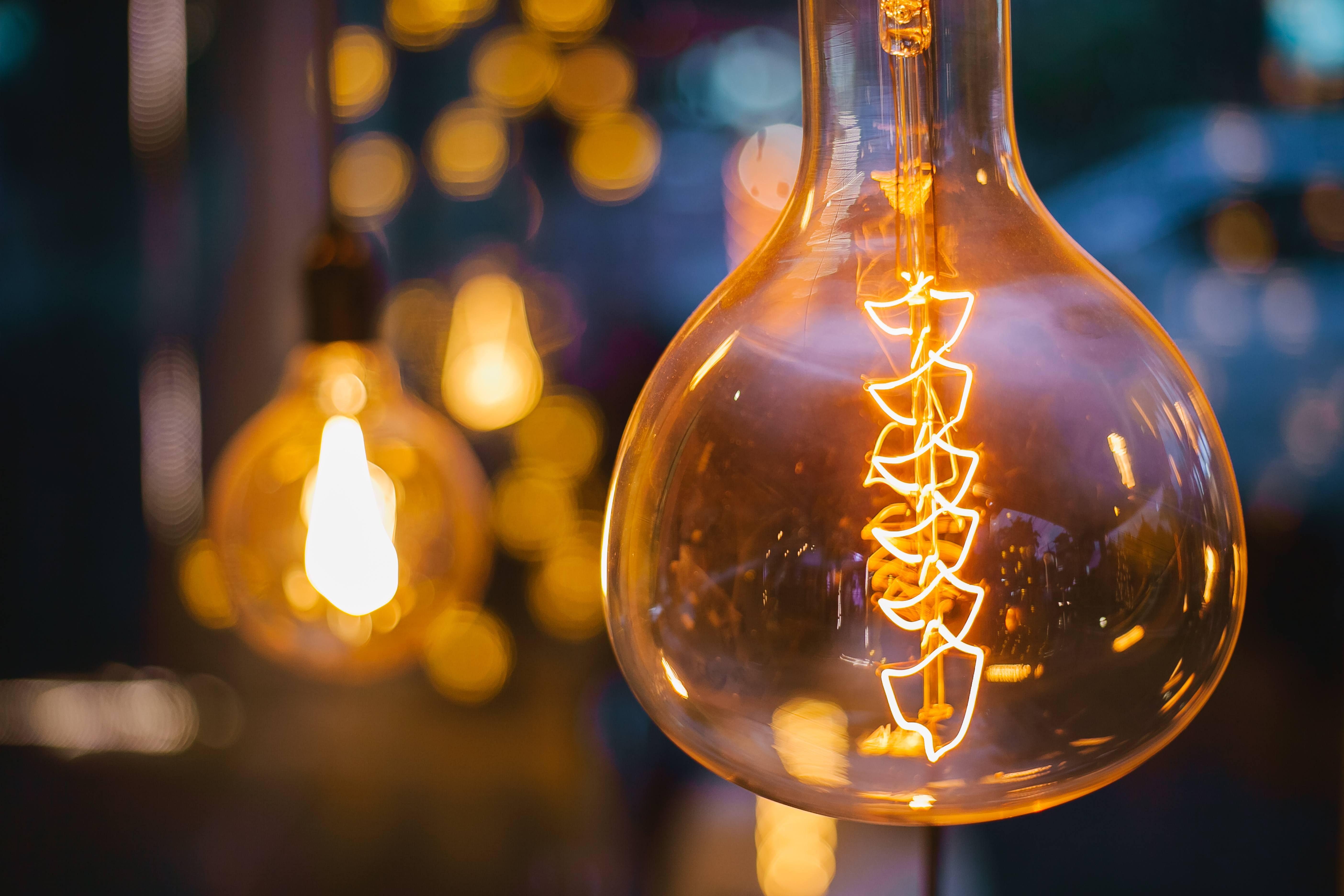 Bilde av en lyspære