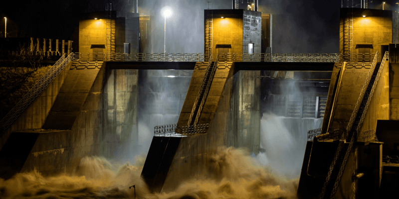 Bilde av et vannkraftverk