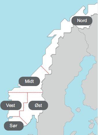 Strømregioner i Norge